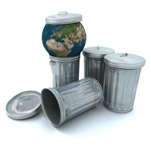 le monde dans une poubelle